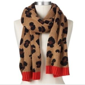 Juicy Couture Tan Leopard Print Muffler Scarf